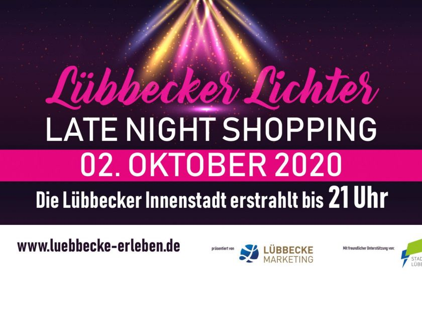 Lübbecker Lichter – Late Night Shopping